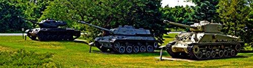 (Home Comforts Canvas Print Left to Right: M47 Patton Tank, M41 Walker Bulldog Tank, M4A3 Sherman Tank Stretched Canvas 10 x 14)