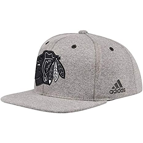 05f277d193dad Image Unavailable. Image not available for. Color  adidas Men s Chicago  Blackhawks NHL Charcoal Golf Adjustable Snapback Hat