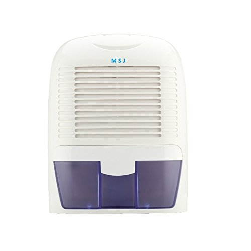 Dehumidifier,MSJ Thermo-Electric Small Air Dehumidifiers Compact Moisture Absorber for Home Closet Basements Kitchen Office (1500ML)