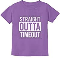 TeeStars - Straight Outta Timeout Funny Toddler/Infant Kids T-Shirt 4T Lavender