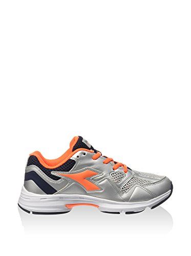 Diadora Unisex-Kinder Shape 5 Jr Sneakers, Silber/Orange, 38 EU