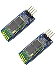 2pcs HC-06 RS232 4 Pin Wireless Bluetooth Serial RF Transceiver Module Bi-Directional Serial Channel Slave Mode for Arduino