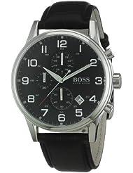 Hugo Boss Black 1512448 Round Black Dial Steel Case Mens Classic
