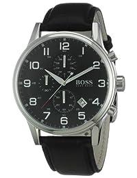 Hugo Boss Men's 1512448 Black Leather Quartz Watch