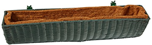 DMC Products 30-Inch Resin Wicker Wall Basket, Hunter ()
