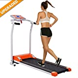 Aceshin Electric Folding Treadmill Power Motorized Walking Jogging Running Machine Cardio Fitness Exercise Equipment Space Saving for Home Gym Easy Assembly