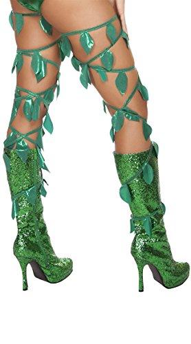 Os Club Roma Halloween (Roma Costume Women's Green Leaf Thigh Wraps, Green, One)