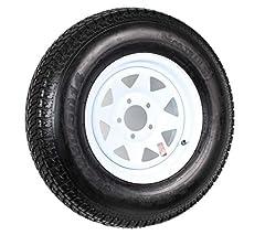 205/75D14 Trailer Tire (205/75D14 Trailer Tire - White Spoke Rim