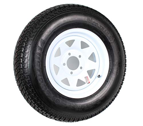 205/75D14 Trailer Tire (205/75D14 Trailer Tire - White Spoke Rim)