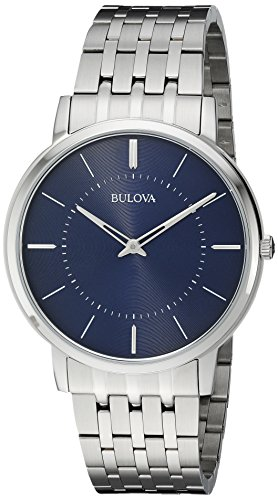 Bulova Men's Quartz Stainless Steel Dress Watch, Color:Silver-Toned (Model: 96A188) Surplus Stainless Steel
