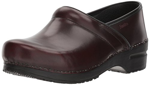 - Original by Sanita Women's Cabrio Clog Brush Off Leather Bordeaux, 38 M EU / 7 B(M) US