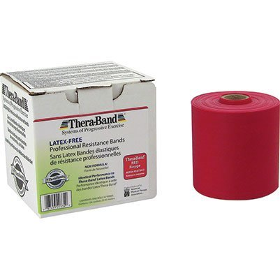 - Thera-Band Latex Free Bands (Red) - 50 Yards