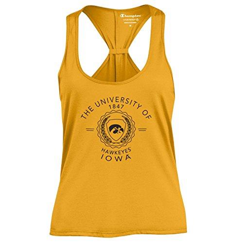 Champion NCAA Women's Swing Silouette Racer Back Tank Top, Iowa Hawkeyes, Small ()