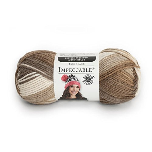 Loops & Threads Impeccable Ombre Yarn 3.5 oz. One Ball - Toasted Almond ()