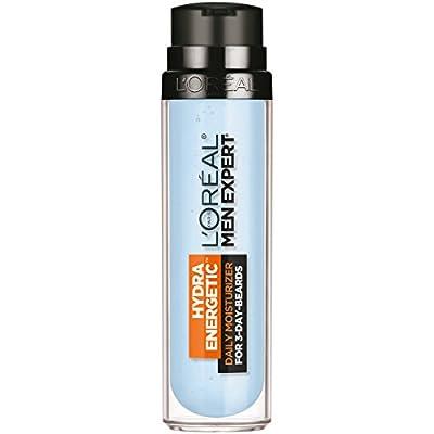 L'Oreal Paris Men Expert Hydra Energetic, Face + 3-Day Beard Gel Moisturizer With Vitamin E, 1.7Fl.oz/50ml