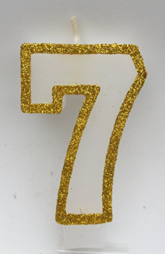 number seven candle - 7