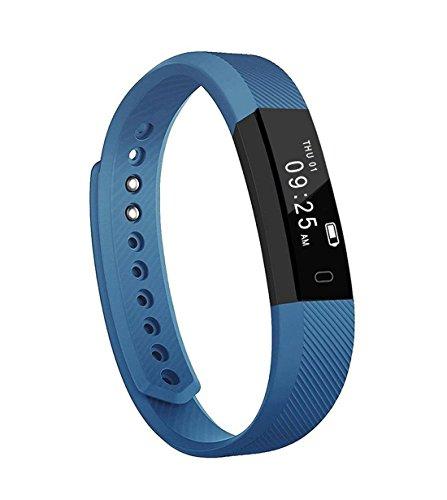 Rastreador de fitness, YOMYM ID115 Pulsera de actividad deportiva con monitor de ritmo cardíaco: Pulsera inteligente...