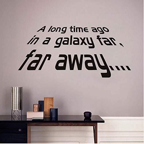 LSFHB Hace Mucho Tiempo En UNA Galaxia Lejos Estrella Guerra Carácter Palabras Etiqueta De La Pared Decoración Del Hogar Salón Dormitorio Papel Pintado De La -