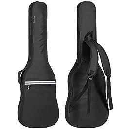 CAHAYA Electric Guitar Bag Gig Bag 6mm Padding Padded Backpack with Reflective Bands Soft Guitar Case Black