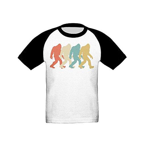Price comparison product image Osmantus Boy's Girl's Retro Bigfoot Pop Art Raglan T-Shirts 3 / 4 Sleeves Baseball Tee 4 Toddler