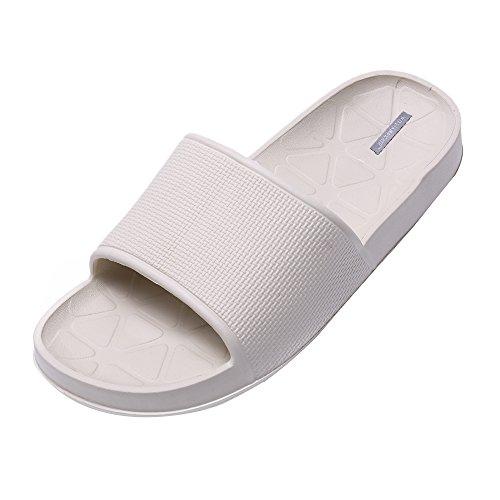 Zapatillas de Baño de Piso de Interior Unisex Zapatillas de Baño Antideslizante (44, gris)