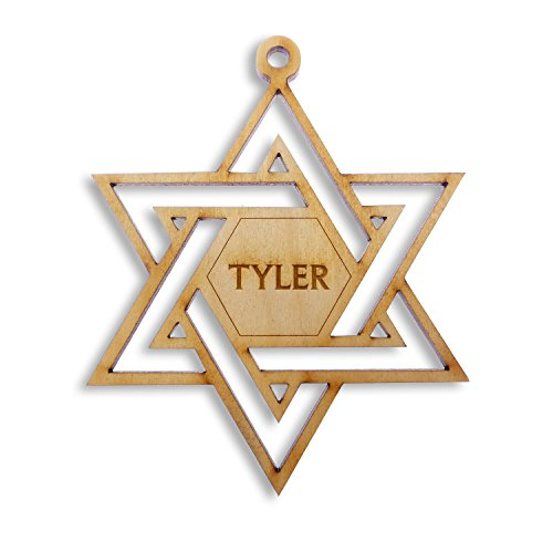 Jewish Star Of David Engraving - Personalized Star of David Ornament