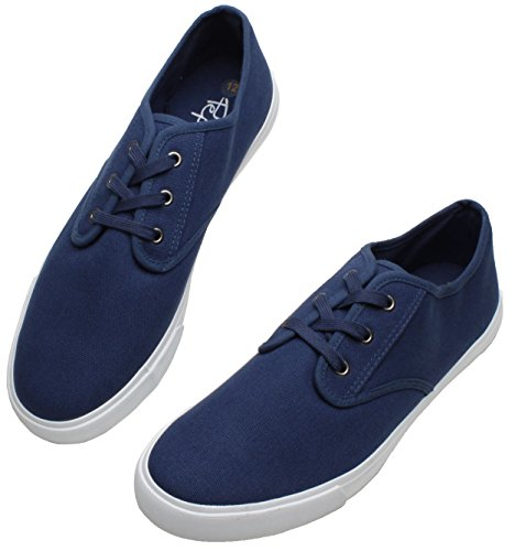 PEPSTEP Canvas Sneakers for Men Casual Sports Shoes Mens Lace up Low Top Sneaker Fashion Sneakers for Men Basic Shoes for Men (10, (Basic Canvas Shoes)