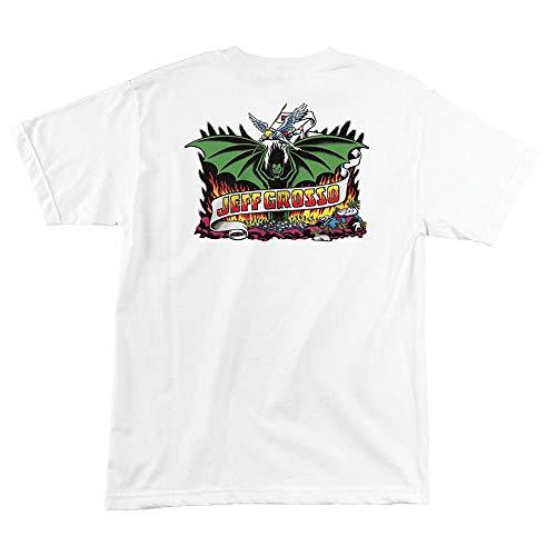 (Santa Cruz Skateboards Jeff Grosso Demon Men's Short Sleeve T-Shirt - White - XL)