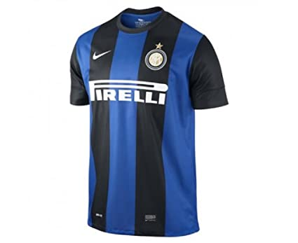 Nike inter milan boys home - Camiseta de fútbol sala infantil, tamaño XL, color negro/royal azul/football blanco: Amazon.es: Deportes y aire libre