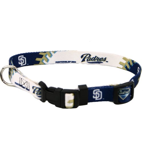 MLB San Diego Padres Adjustable Dog Collar (Medium)