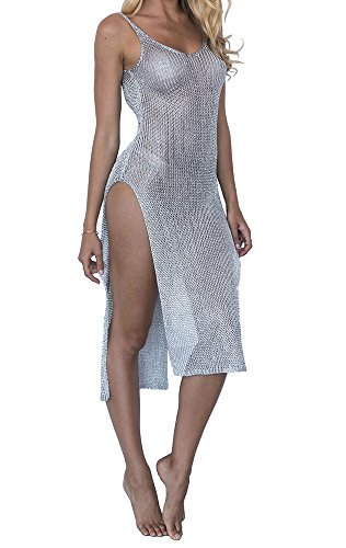 Coolloog Women's Swimwear Beach Bathing Suits Cover Ups Sexy Dresses Bikini Perspective Cover-ups One ()