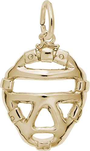 Rembrandt Catchers Mask Charm - Metal - 14K Yellow -