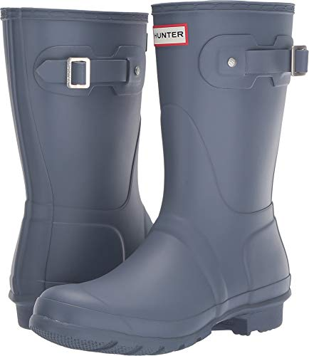 (Hunter Women's Original Short Rain Boots Gull Grey 5 M US )