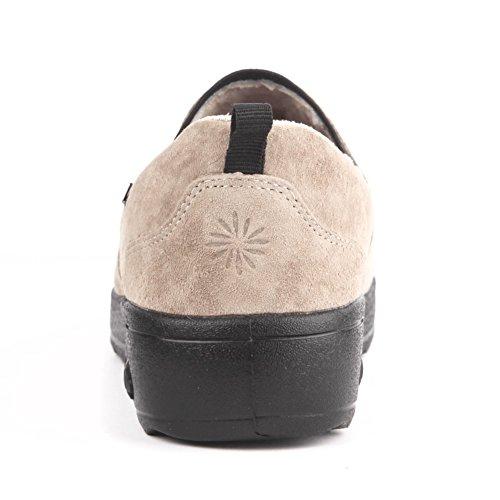 Therafit Samantha Womens Suede Slip On Casual Shoe - Per Fascite Plantare / Dolore Al Piede Tan