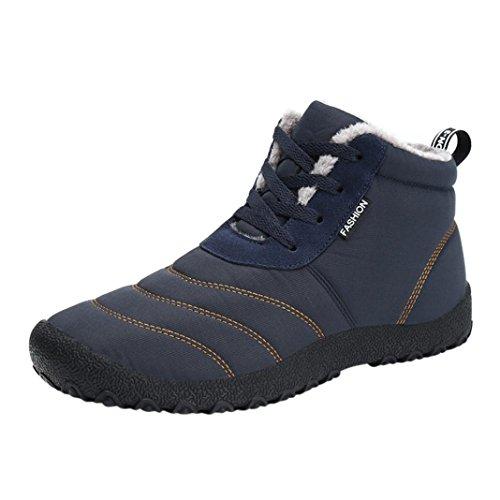 Snow Boots Sports Shoes, SOMESUN Winter Snow stivali impermeabili Insulated informale all'aperto Sport Scarpe delle donne degli uomini donna (44, Blue)