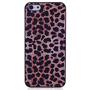 LZX Lureme Leopard Print Plastic Back Case for iPhone 5/5S