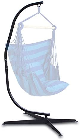 BELLEZZA Hammock Chair with C Stand Combo - Cotton Fabric - 300 lbs Weight Capacity