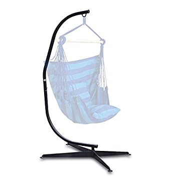 belleze hammock c frame stand solid steel construction for hanging air porch swing chair amazon     belleze hammock c frame stand solid steel      rh   amazon