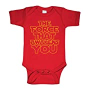 THE FORCE THAT AWAKENS YOU - movie funny - Cotton Infant Bodysuit, 6m, Red
