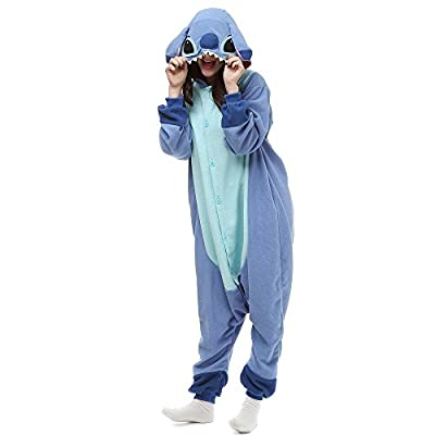 ZEALOVE Blue Stitch Onesie Kigurumi Pajama Costume For Adult and Teenagers Christmas Gift