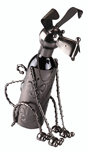 - Clever Creations Premium Dog Shaped Metal Wine Bottle Holder Decorative Stainless Steel Design Fits Any Standard Wine Bottle | Wine Accessory Perfect for Kitchen Decorations