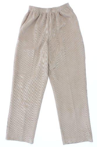 Alfred Dunner Classics Elastic Waist Corduroy Pants Tan 12P S (Pants Tan Corduroy)