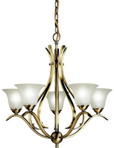 (Kichler 2020AB Dover Chandelier 5-Light, Antique Brass)