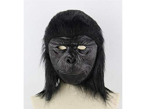 Hezon Happy Festival Funny Orangutan Mask Halloween Tricky Monkey Head Cover for Masquerade (Black)