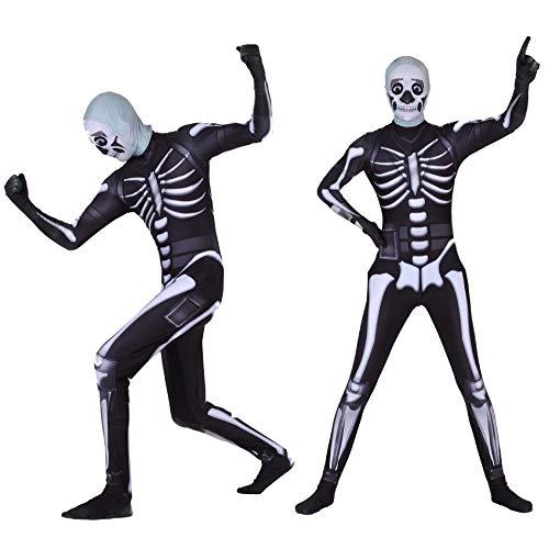 Skull Trooper Skin Costume Halloween Kids/Adults Zentai Bodysuit Cosplay