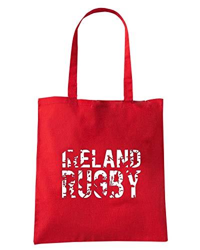 RUGBY Borsa Rossa RUGGERSHIRTS Speed TRUG0163 Shirt Shopper IRELAND LOGO ta0xH