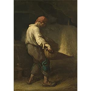 Oil Painting 'Jean Franois Millet The Winnower', 16 x 23 inch / 41 x 58 cm , on High Definition HD canvas prints is for Gifts And Bar, Dining Room And Nursery Decoration, service