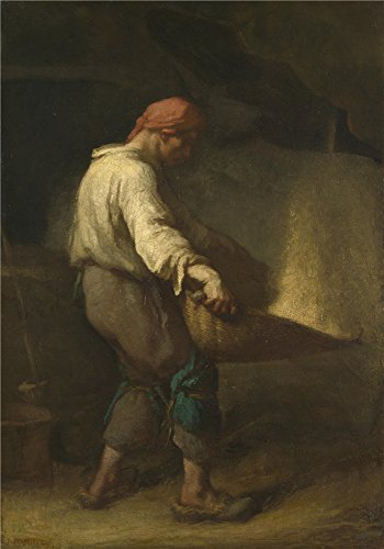 Oil Painting 'Jean Franois Millet The Winnower', 8 x 11 inch / 20 x 29 cm , on High Definition HD canvas prints is for Gifts And Bar, Dining Room And Nursery Decoration, onlineprinting