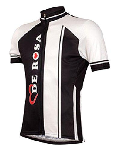 DE ROSA(デローザ) 400 LOGO SHORT SLEEVES BLK/WHT L 半袖シャツ ブラック/ホワイト Lサイズ   B06XYJJG2J