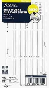 Filofax - Recambio para agenda (1 semana en 2 páginas) Horiz ...